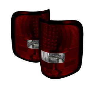 2004-2008 Ford F150 Spyder LED Tail Lights - Red Clear