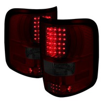 2004-2008 Ford F150 Spyder LED Tail Lights - Red/Smoke