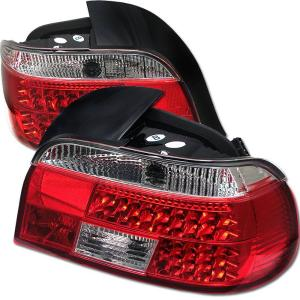 1997-2003 BMW 5_Series Spyder LED Tail Lights - Red/Clear