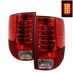 2009-9999 Dodge Ram Spyder LED Tail Lights - Red Clear