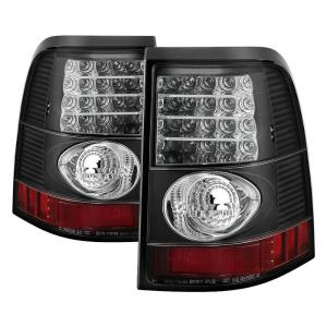 2002-2005 Mercury Mountaineer Spyder LED Tail Lights - Black
