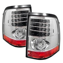 2002-2005 Mercury Mountaineer Spyder LED Tail Lights - Chrome