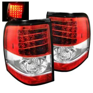 2002-2005 Mercury Mountaineer Spyder LED Tail Lights - Red/Clear