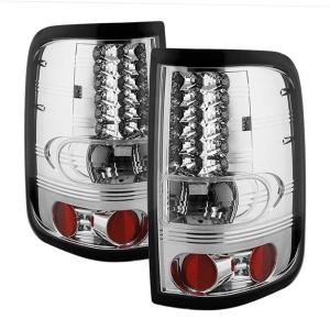 2004-2008 Ford F150 Spyder LED Tail Lights - Chrome