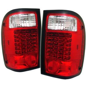 93 00 Ford Ranger Spyder Led Tail Lights Red Clear