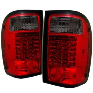 01 05 Ford Ranger Spyder Led Tail Lights Red Smoke