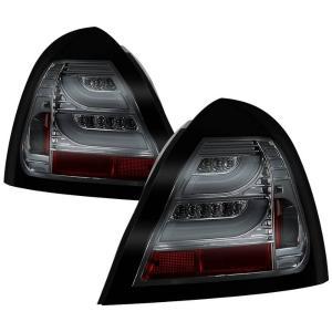 04 08 Pontiac Grand Prix Spyder Tail Lights Smoke Light Bar Led