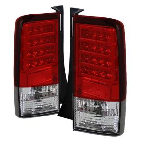 2004-2007 Scion Xb Spyder LED Tail Lights - Clear (Red)