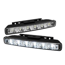 1960-1964 Ford Galaxie Spyder LED DRL Day Time Running Lights - 6-Piece (Chrome)