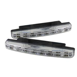 1966-1971 Jeep Jeepster_Commando Spyder Universal DRL (Daytime Running Lights) 8 Amber LED Lights - Chrome