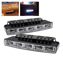 1998-2003 Toyota Sienna Spyder Universal DRL (Daytime Running Lights) Engine Activated LED Lights - Chrome
