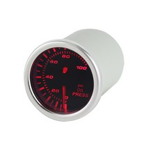 1992-2000 Mercedes S-Class Spyder Auto Oil Pressure Gauge 7 Color Display - Smoke