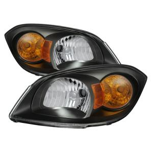05 10 Chevrolet Cobalt 07 09 Pontiac G5 Spyder Crystal Headlights Black