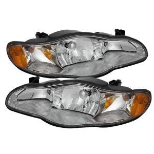00 05 Chevrolet Monte Carlo Spyder Crystal Headlights Chrome