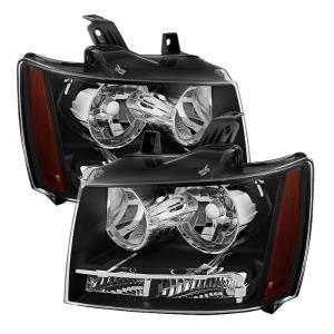 2002-2006 Chevy Avalanche Black Signal Corner Headlights Smoke Tail Lights Lamps