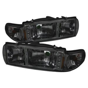 SPYDER HD ON CCP91 1PC LED BK Set of 2 Black LED Crystal Headlights for Caprice