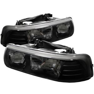 1999-2006 Chevrolet Silverado Spyder Crystal Headlights - Black