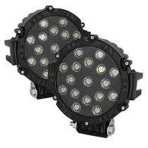 2001-2003 Honda Civic Spyder LED Round Lights - 7-Inch (Black)