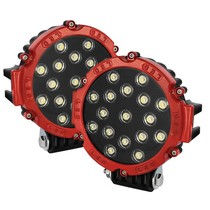 2001-2003 Honda Civic Spyder LED Round Lights - 7-Inch (Red)