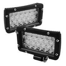 2002-2007 Buick Rendezvous Spyder LED Square Lights - 8-Inch (Black)