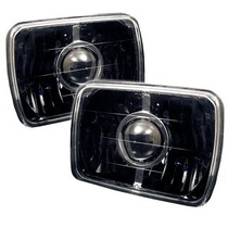 "1960-1964 Ford Galaxie Spyder Universal Projector Headlights (7""X6"") - Black"