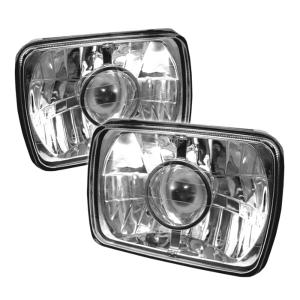 "1960-1964 Ford Galaxie Spyder Universal Projector Headlights (7""X6"") - Chrome"