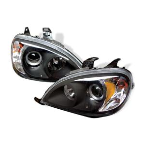 1998-2005 Mercedes M-class Spyder Amber Projector Headlights - Black