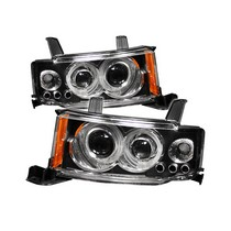 2004-2007 Scion Xb Spyder Halo Projector Headlights - Black