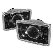 "1966-1971 Jeep Jeepster_Commando Spyder Projector Headlights (4X6"") - Black"