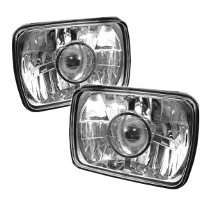"1960-1964 Ford Galaxie Spyder Projector Headlights (4X6"") - Chrome"