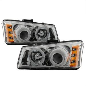 1999-2006 Chevrolet Silverado Spyder Halo Projector Headlights - Chrome