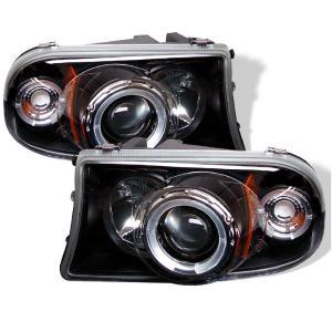 97 04 Dodge Dakota 98 03 Durango Spyder Halo Projector Headlights
