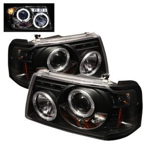 01 11 Ford Ranger Spyder Halo Projector Headlights Black 1 Piece