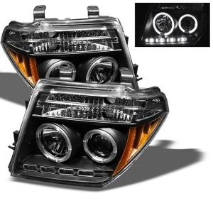05 07 Nissan Pathfinder 08 Frontier Spyder Halo Led Projector Headlights