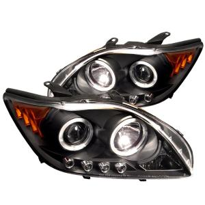2005-2010 Scion TC Spyder Halo LED Projector Headlights - Black
