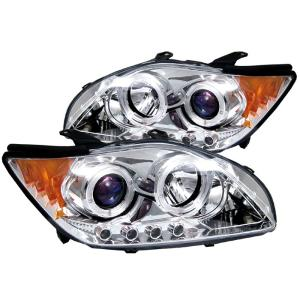 2005-2010 Scion TC Spyder Halo LED Projector Headlights - Chrome