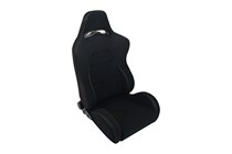 2004-2005 Honda Civic Spyder BR Style Adjustable Racing Seat - Fabric (Black)