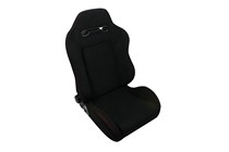 2004-2005 Honda Civic Spyder TR Racing Seat - Fabric (Black with Red Stitching)