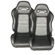 2009-9999 Hyundai Genesis Spyder Type-R Adjustable Racing Seat - PVC (Black)