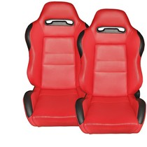 2001-2007 Toyota Highlander Spyder Type-R Racing Seat - PVC (Red)