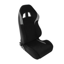 2001-2007 Toyota Highlander Spyder XM-II Adjustable Racing Seat - Fabric (Black and Grey)