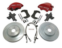 2001-2003 Honda Civic SSBC Disc Brake Pad/Caliper and Rotor Kit (Front) - 2-Piston Disc Brake Kit - 12 in. Rotors - Aluminum Calipers