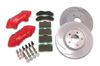 2001-2003 Honda Civic SSBC Disc Brake Pad/Caliper and Rotor Kit (Front) - 4-Piston Disc Brake Kit - 9.5 in. Rotors - Aluminum Calipers