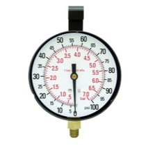 "1985-1991 Buick Skylark Star Products 3-1/2"" Replacement Gauge, 100 PSI"