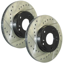 1978-1981 Buick Century StopTech Drilled and Slotted Rotor - Front Left