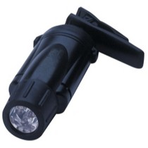 1972-1980 Chevrolet LUV Streamlight Clipmate Clip Light - Black With White LED