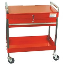 1984-1986 Ford Mustang Sunex Service Cart With Locking Top and Drawer - Red