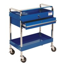 1970-1972 Pontiac LeMans Sunex Service Cart With Locking Top and Drawer - Blue