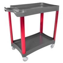 1984-1986 Ford Mustang Sunex 2 Shelf Plastic Cart With Anodized Aluminum Legs