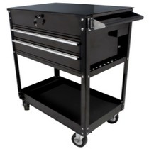 1970-1972 Pontiac LeMans Sunex Black 2 Drawer Service Cart